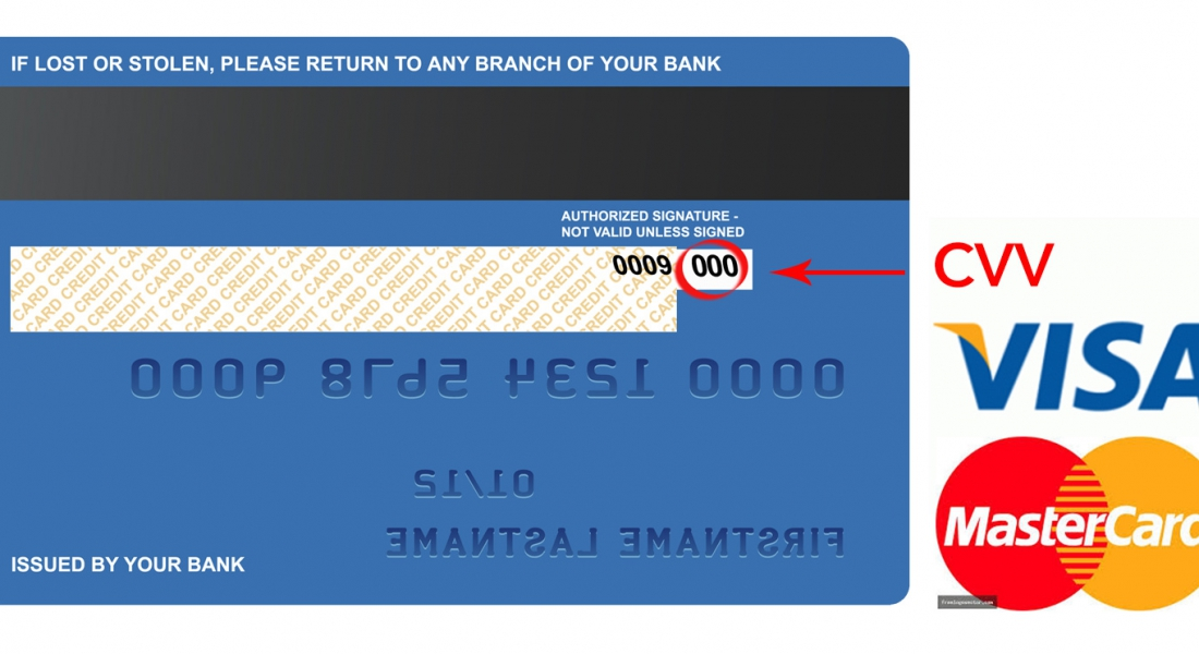 For visa/mastercard/discover, use last 3 digits on back. For AMEX, use 4 digits on front.